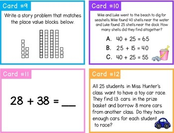 2 Digit Addition With Regrouping BUNDLE | 1st Grade Math