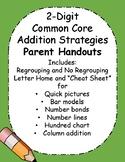2-Digit Addition Strategies PARENT Handouts for Common Core!