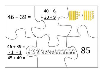 2 Digit Addition Strategies Puzzles