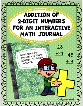 2-Digit Addition Strategies for Math Interactive Journal
