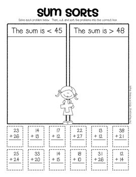 2-Digit Addition  {Student Practice Sheets, Grades 1-2}
