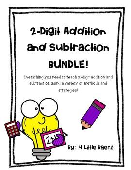 2-Digit Addition & Subtraction Bundle! Solving Problems, Mental Math, Estimation