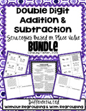 2-Digit Addition & Subtraction Place Value Strategies BUNDLE