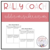 2 Digit Addition & Subtraction- Rally Coach