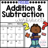 2 Digit Addition & Subtraction Riddle Practice Pages Freebie