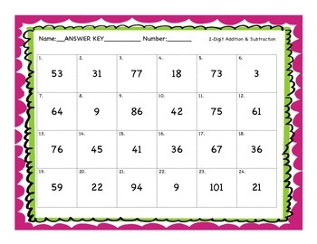 2-Digit Addition & Subtraction Task Cards (with and without regrouping)