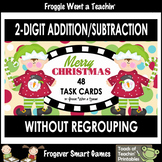 "2-Digit Addition & Subtraction Without Regrouping -- ""Merry Christmas"""