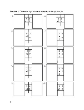 Workbook: 2-Digit Addition, Subtraction, Mixed Practice: Regrouping and Renaming