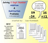 2 Digit Addition & Subtraction using the number grid SmartBoard Lesson