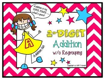 2-Digit Addition Task Card Activity Set