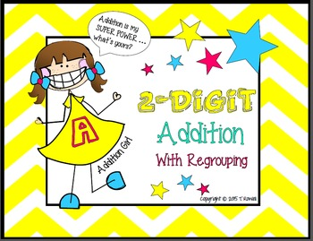 2-Digit Addition Task Card Activity Set (With Regrouping)