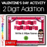 2 Digit Addition Valentine's Day Powerpoint Game