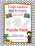 2-Digit Addition WITH Re-Grouping Puzzle Pack