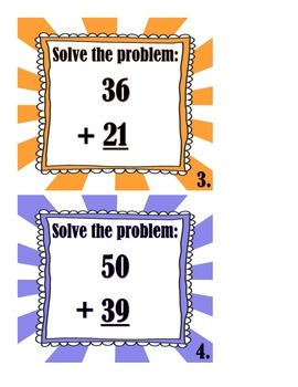 2 Digit Addition With NO Regrouping Scoot