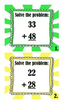 2 Digit Addition With Regrouping Scoot