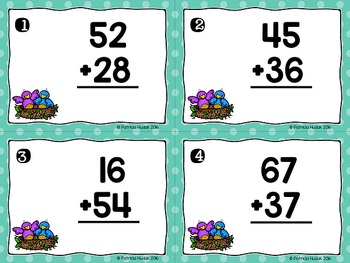 2 Digit Addition With Regrouping Task Cards (Free!)