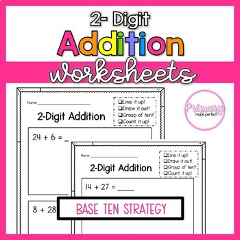2 digit addition with regrouping worksheets 1st grade math tpt. Black Bedroom Furniture Sets. Home Design Ideas