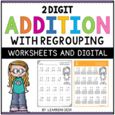 2 Digit Addition With Regrouping Worksheets