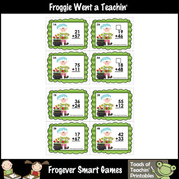 """2-Digit Addition With and Without Regrouping -- """"Happy Little Elf"""""""