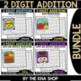 2 Digit Addition With and Without Regrouping Seasonal Bundle