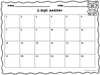2 Digit Addition: With and Without Regrouping Task Cards