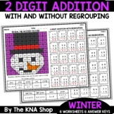 2 Digit Addition With and Without Regrouping Winter Activities