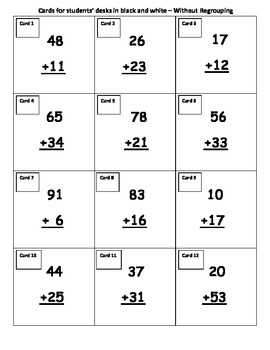 2-Digit Addition Without Regrouping Bounce