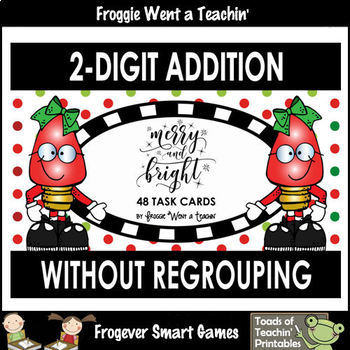 "2-Digit Addition Without Regrouping  -- ""Merry and Bright"""