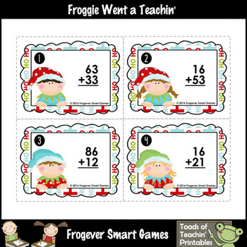 """2-Digit Addition Without Regrouping -- """"Santa's Workshop"""""""