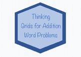 2 Digit Addition Word Problem Thinking Grids