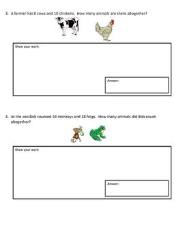 2-Digit Addition Word Problems
