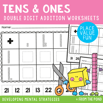 2 Digit Addition Place Value Worksheets
