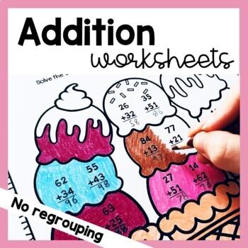 2 Digit Addition Worksheets (No Regrouping)