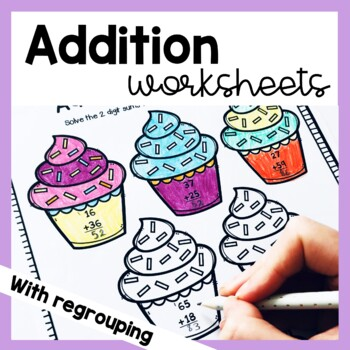 2 Digit Addition Worksheets (With Regrouping)