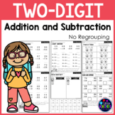 2-Digit Addition and Subtraction Without Regrouping Worksheets