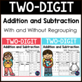 2 Digit Addition and Subtraction Worksheets BUNDLE