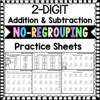 2 Digit Addition and Subtraction Without Regrouping