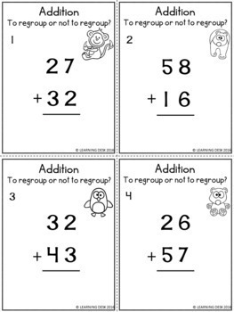 2 digit addition and subtraction with and without regrouping worksheets. Black Bedroom Furniture Sets. Home Design Ideas