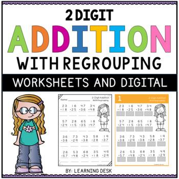 2 Digit Addition and Subtraction Worksheets BUNDLE