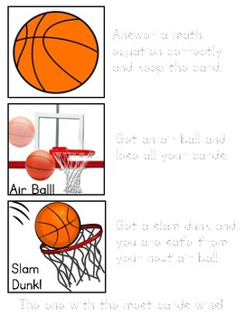 2-Digit Addition and Subtraction Basketball