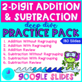 2 Digit Addition and Subtraction Google Slides Distance Learning