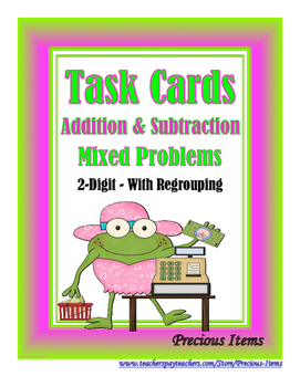 2-Digit Addition and Subtraction Mixed Problems - With Reg