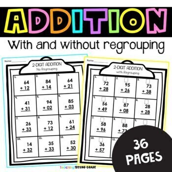 2 digit addition by teaching second grade teachers pay. Black Bedroom Furniture Sets. Home Design Ideas