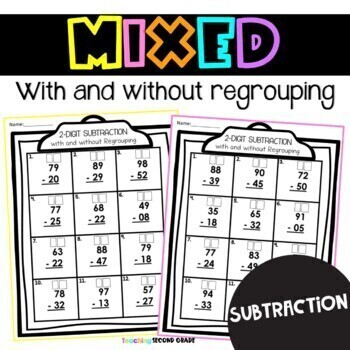 2 Digit Addition with Regrouping by Teaching Second Grade ...