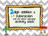 2 Digit Addition and Subtraction Regrouping Pack