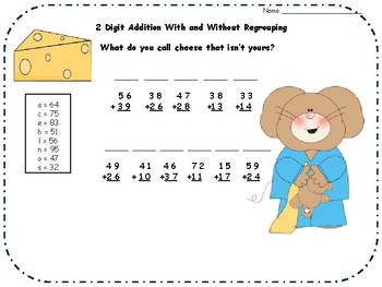 2 Digit Addition and Subtraction Riddles