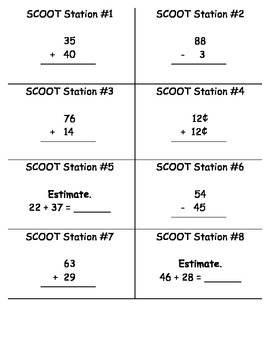 2 Digit Addition and Subtraction SCOOT