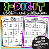 2 Digit Addition | 2 Digit Subtraction | Set 2