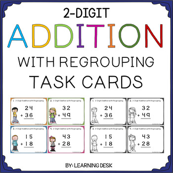 2 Digit Addition and Subtraction Task Cards BUNDLE