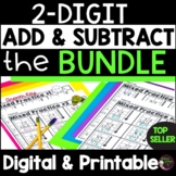 2-Digit Add and Subtract With & Without Regroup Bundle | Digital and Printable